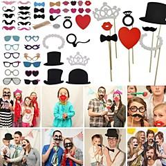 häät sisustus 44pcs / set hot DIY naamarit Photo Booth rekvisiitta mustache on a stick synttäreille