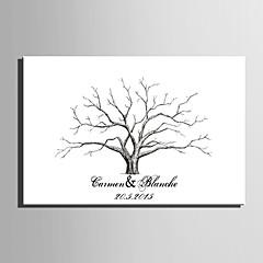 הדפסי דואר home® אישית ציור טביעת אצבע קנבס - עץ ורוד (כולל 12 צבעי דיו) חתונה אלמוגים