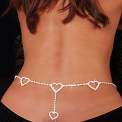 女性 ボディジュエリー ベリーチェーン ボディチェーン/ベリーチェーン ラインストーン 模造ダイヤモンド ユニーク ファッション セクシー ハート ジュエリー ホワイト ジュエリー 日常 カジュアル 1個