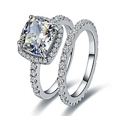 2CT Cushion Engagement Ring Diamond Rings Set for Women Infinity Wedding Band 925 Silver Engagement Jewelry Propose