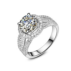 Distinctive Design 2CT Main Stone Special Setting Semi Mount SONA Simulate Diamond Engagement Jewelry Luxury Micro Paved