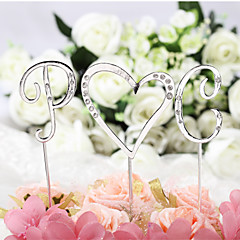 Cake Topper Non-personalized Monogram Chrome Wedding / Anniversary / Bridal Shower / Baby Shower / Quinceañera & Sweet Sixteen / Birthday