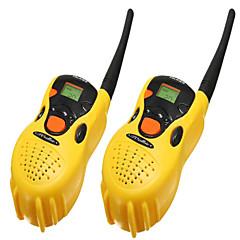 2db hordozható műanyag játékok walkie-talkie
