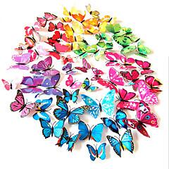 3d pvc kleurrijke simulatie vlinder muurstickers 12st / set