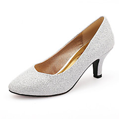 Women's Shoes Glitter Kitten Heel Round Toe Pumps Wedding More Colors available