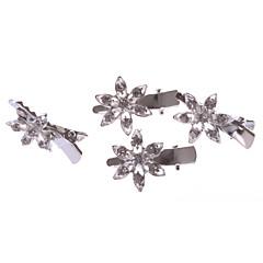 Dame / Blomsterpige Legering Headpiece-Bryllup / Spesiell Leilighet / Avslappet / Kontor & Karriere / Utendørs Barette 4 deler Sølv Rund