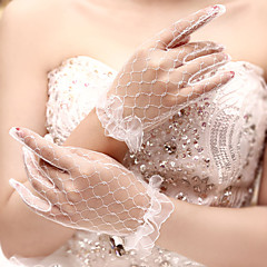 Net Wrist Length Wedding/Party Glove