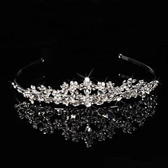 Vrouwen Bloemenmeisje Sterling zilver Licht Metaal Helm-Bruiloft Speciale gelegenheden Hoofdbanden Bloemen Guirlandes 1 Stuk