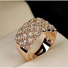 נשים טבעות הצהרה אופנתי תכשיטים סגסוגת תכשיטים עבור חתונה Party יומי קזו'אל ספורט