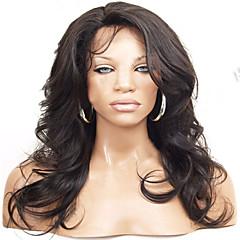 8a brasilianskt hår snör åt människohår peruker brasiliansk vågigt spets front peruk limfria fullt spets peruk för svarta kvinnor