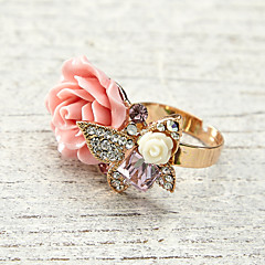 Ring Women's Crystal / Rhinestone Alloy Alloy Adjustable As the Picture The ring size can be adjusted.