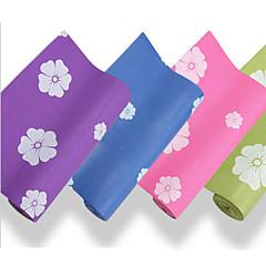 Mats Yoga - 6 - di PVC - Blu/Verde/Viola scuro/Azzurro cielo