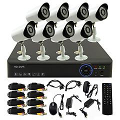 twvision® 8-kanals kanal 960h hdmi cctv dvr 8x udendørs 800tvl sikkerhed kamera system