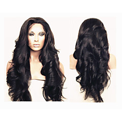 """פאות ברזילאי glueless גל שיער גוף בתולת תחרה מלאה אדם שיער לנשים שחורות 10 """"-30"""" פאות מול גוף תחרה גל"""