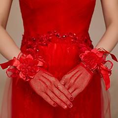 Net Elbow Length Wedding/Party Glove