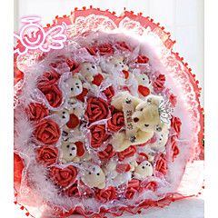 Holding The Heart Bear Bouquet Valentine's Day Gift Wedding Bouquet