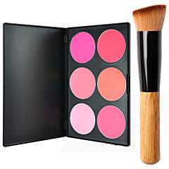 Pro Party 6 Colors Face Blush Blusher Powder Palette + 1PCS Powder Brush
