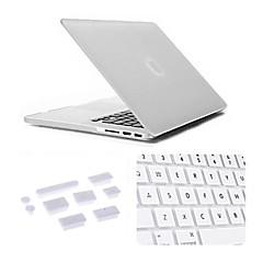 3 dans 1 cas mat avec couvercle du clavier et la prise de poussière en silicone pour macbook rétine 13,3 pouces