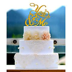 Tortenfiguren & Dekoration Nicht-personalisierte Acryl Jubliläum / Brautparty / Hochzeit Rot / Weiß / Gold / Silber / Grün / Blau 1Poly