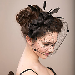 Black Fascinators Lace Veil for Wedding Party Hair Jewelry