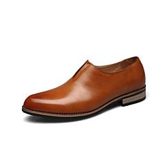 Zapatos de Hombre Mocasines Boda / Casual / Fiesta y Noche Cuero Negro / Amarillo