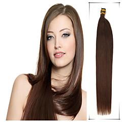 klass 5a 1st / lot 16inch / 40cm multicolors raka fusion jag tippa hårförlängningar / människohår väver 100s / förpackning 0,4 g / s