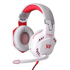 každý G2000 sluchátka kabelové 3,5 mm nad ovládáním hlasitosti herní ucha s mikrofonem pro PC