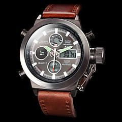 ASJ Herren Sportuhr Militäruhr Armbanduhr Digitaluhr Japanisch Quartz digitalLCD Kalender Chronograph Wasserdicht Duale Zeitzonen Alarm