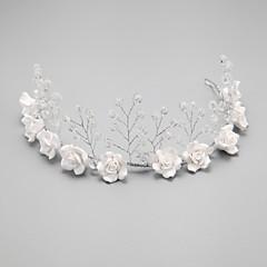 Ženy Malé družičky Křišťál Slitina Imitace perly Přílba-Svatba Zvláštní příležitost Čelenky Jeden díl