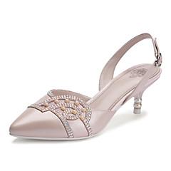 Women's Shoes Calf Hair Kitten Heel Heels Sandals/Pumps/Heels Wedding/Office & Career/Party & Evening/Casual Blue/Pink