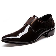 옥스퍼드 남자 신발 웨딩 / 사무실 & 커리어 / 캐쥬얼 / 파티/이브닝 에나멜 가죽 / 레더렛 블랙
