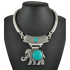 Femme Forme d'Animal Eléphant Turquoise Mode Bleu clair Bijoux Pour Occasion spéciale Anniversaire