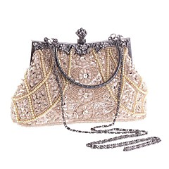 Women Bags All Seasons Polyester Evening Bag with Imitation Pearl Crystal/ Rhinestone for Wedding Event/Party Formal Office & Career