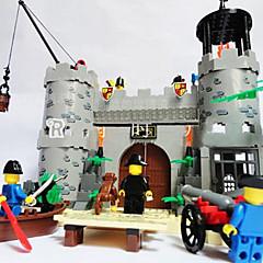 erleuchten Piraten rauben Baracke Burg Bausteine Sätze 366pcs diy Bau Ziegel Spielzeug
