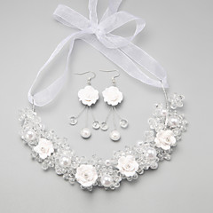 Jewelry Set Women's Anniversary / Wedding / Engagement / Birthday / Party / Special Occasion Jewelry Sets Imitation PearlCrystal /