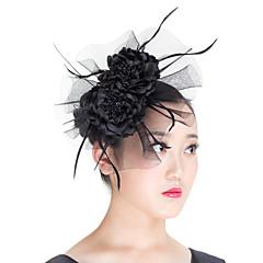 成人用 羽毛 / ポリエステル かぶと-結婚式 / パーティー / カジュアル / 屋外 ヘッドドレス 1個