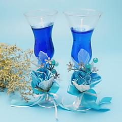 dobbelt glas kopper stearinlys sæt