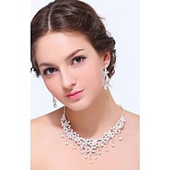 Sieraden set Dames Jublieum / Bruiloft / Verloving / Feest / Dagelijks / Speciale gelegenheden Sieraden Sets Zilver / Licht Metaalkristal