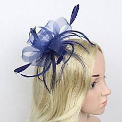 Women's Feather/Net Headpiece - Wedding/Party Fascinators 1 Piece
