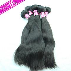 remy brasileiro 5pcs cabelo virgem / lot extensão do cabelo brasileiro 1b preto cabelos lisos tecelagem