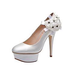 Women's Wedding Shoes Heels/Platform/Closed Toe Heels Wedding/Party & Evening/Dress White