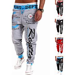 Men's Asymmetrical Pants , Acrylic / Cotton / Organic Cotton Sleeveless Casual / Work Fashion Spring / Fall IFADREAM