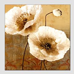 Hånd-malede Blomstret/BotaniskModerne / Europæisk Stil Et Panel Canvas Hang-Painted Oliemaleri For Hjem Dekoration