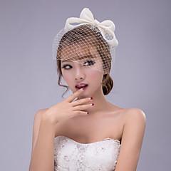 Femme Dentelle / Mousseline Casque-Mariage / Occasion spéciale / Extérieur Coiffure / Fleurs / Chapeau / Voile de cage à oiseaux 1 Pièce