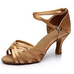 Dansesko ( Sort / Brun / Sølv / Guld / Leopard / Anden ) - Justerbar - Skræddersy din hæl! - Damer - Latin