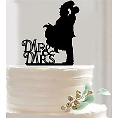 Acrylic Mr & Mrs Cake Topper Non-personalized Acrylic Wedding / Anniversary / Bridal Shower 18.5*12.1*0.27cm