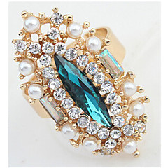 MPL European and American fashion exquisite gem pearl diamond ring