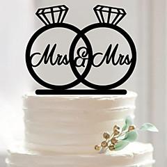 Tortenfiguren & Dekoration Nicht-personalisierte Acryl Hochzeit / Jubliläum / Brautparty SchwarzGarten Thema / Asiatisches Thema / Blumen
