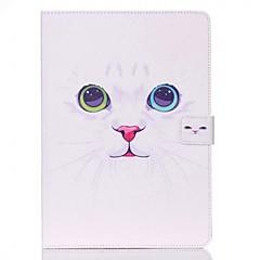 Teste padrão do gato branco standoff caixa protetora para o ar ipad 2