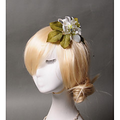 Femme Tulle / Imitation de perle / Tissu Casque-Mariage / Occasion spéciale / Décontracté Peigne 1 Pièce Ivoire
